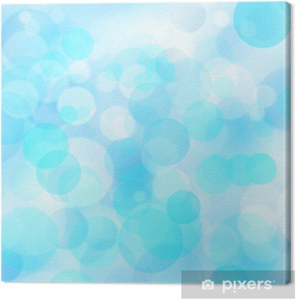 Cuadro en Lienzo Arte azul con bokeh belleza para su diseño - Celebraciones internacionales
