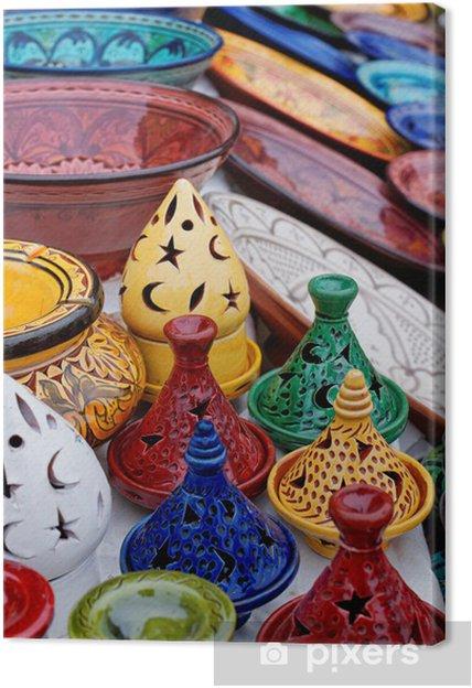 Cuadro En Lienzo Artesanía Marroquí