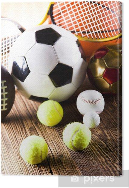 Cuadro en Lienzo Artículos deportivos -