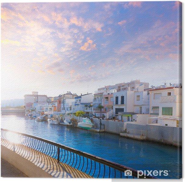 Cuadro en Lienzo Atardecer Puerto Gandia Valencia España mediterránea - Vacaciones