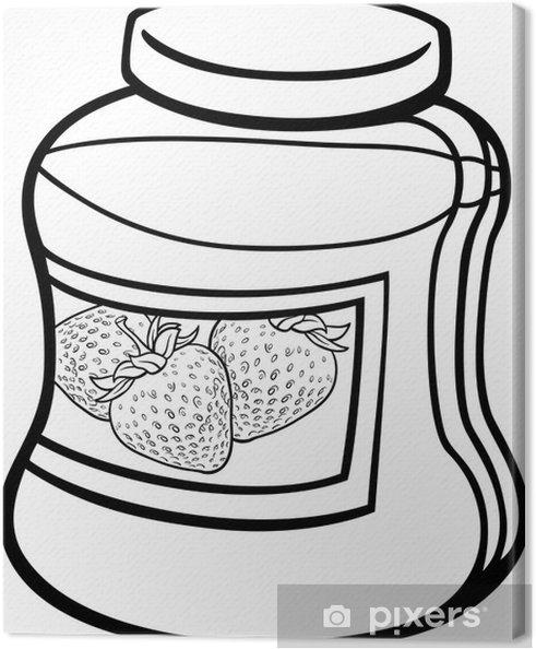 Cuadro en Lienzo Atasco en la jarra para colorear de dibujos ...