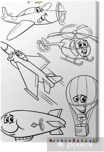 Cuadro en Lienzo Aviones de la historieta fijada para libro para ...