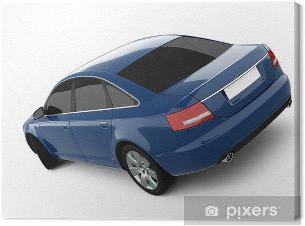 Cuadro en Lienzo Azul Business-Class Car - Temas