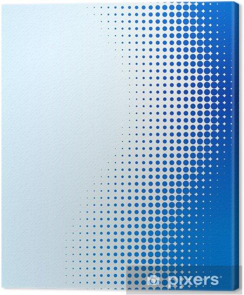 Cuadro en Lienzo Azul de fondo de medios tonos. Ilustración del vector. - Fondos