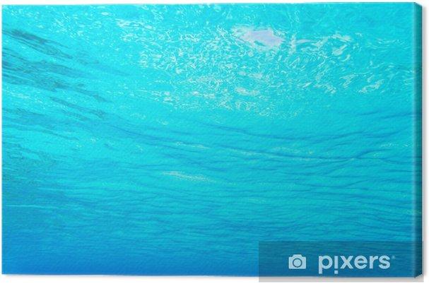 b1cdbb1b9c Cuadro en Lienzo Azul turquesa visión bajo el agua de la playa tropical