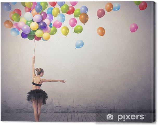 Cuadro en Lienzo Bailarín con globos - Temas