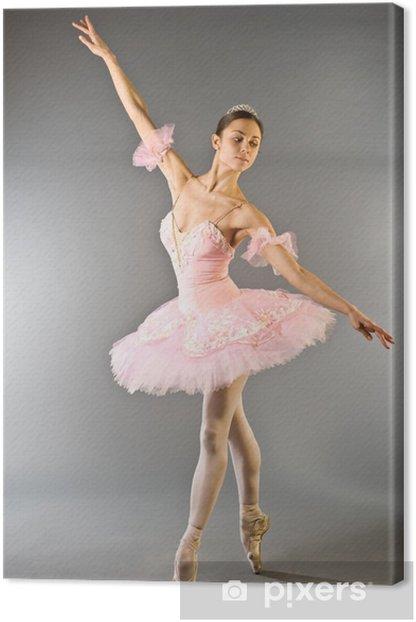 Cuadro en Lienzo Bailarina de danza del dedo del pie aislado - Temas