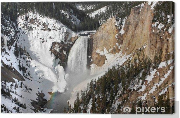 Cuadro en Lienzo Baje las caídas Yellowstone - Naturaleza y zonas salvajes