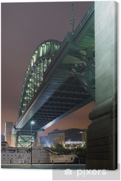 Cuadro en Lienzo Bajo el puente - Infraestructuras