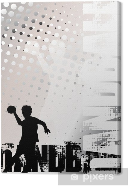 Cuadro en Lienzo Balonmano oro del cartel del fondo 3 - Deportes de equipo