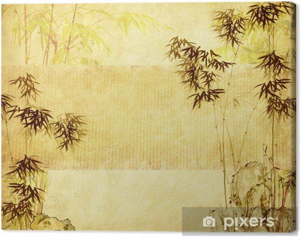 Cuadro en Lienzo Bambú en antigua grunge textura de papel - Temas