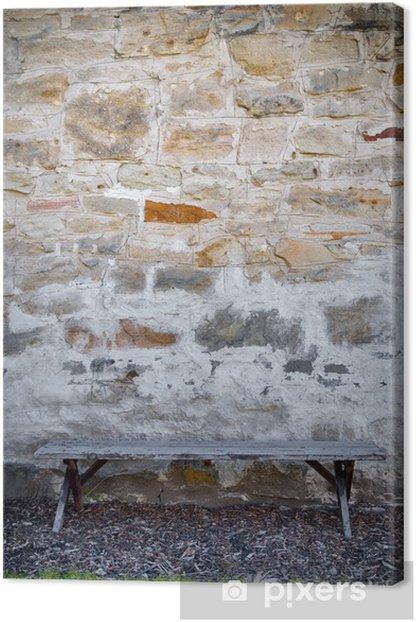 Cuadro en Lienzo Banco y la pared de piedra - Justicia