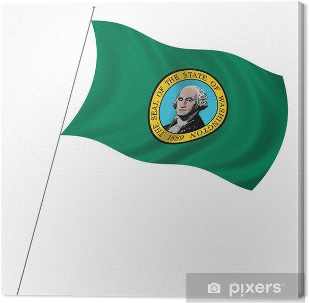 Cuadro en Lienzo Bandera del estado de Washington con la bandera ...