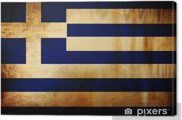 Cuadro en Lienzo Bandera griega -