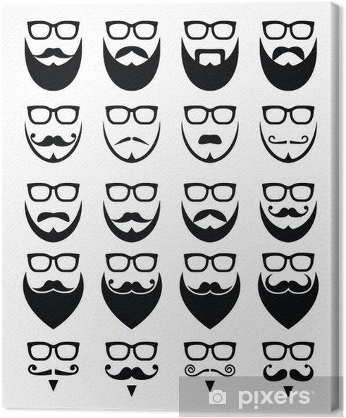 Cuadro en Lienzo Barba y gafas, Iconos inconformista - Señales y símbolos