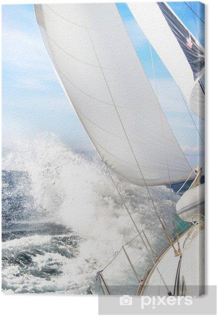 Cuadro en Lienzo Barco de vela en la tormenta - Croacia