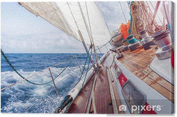 Cuadro en Lienzo Barco de vela navegando sobre las olas - Barcos