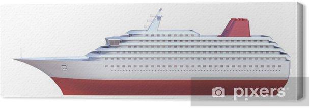 Cuadro en Lienzo Barco sobre un fondo blanco - Barcos