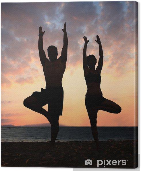 Cuadro en Lienzo Beach yoga - Salud