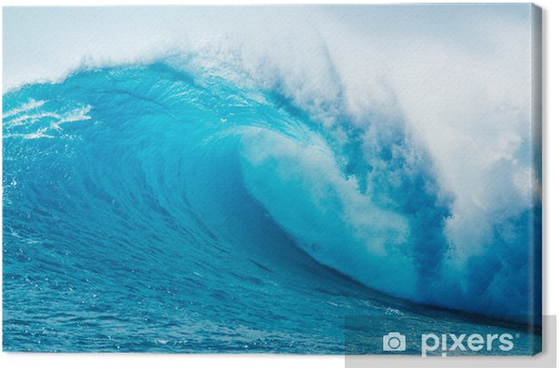 Cuadro en Lienzo Beautiful Ocean Blue Wave - Mar y océano