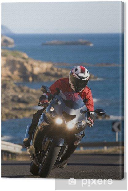 Cuadro en Lienzo Biker en Cerdeña - Europa