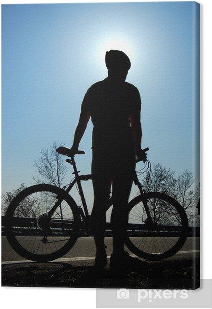 Cuadro en Lienzo Biking - Deportes individuales