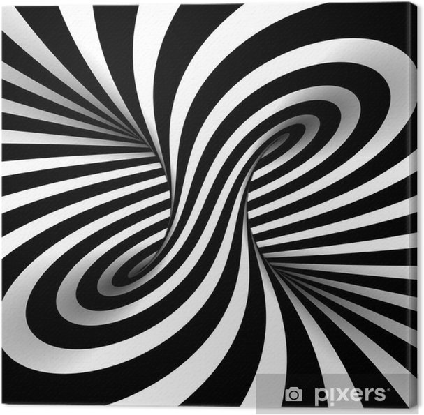 Cuadro en Lienzo Black and white abstract -