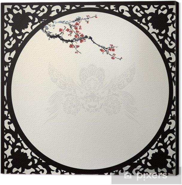 Cuadro en Lienzo Blanco chino - Árboles