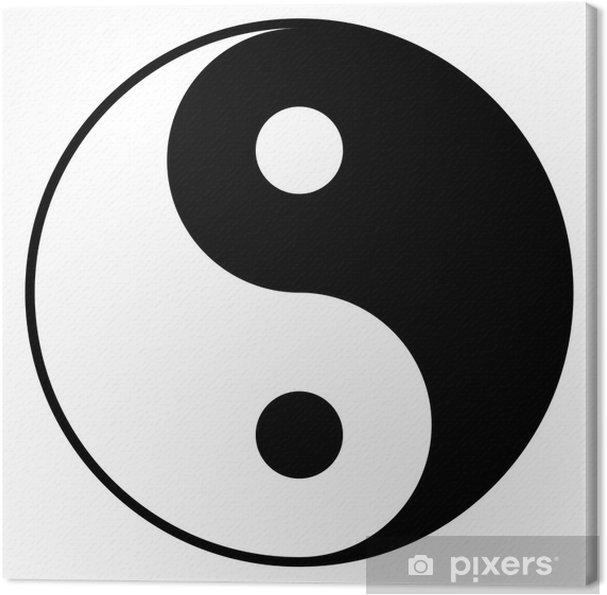 Cuadro En Lienzo Blanco Y Negro Símbolo Yin Yan Pixers Vivimos