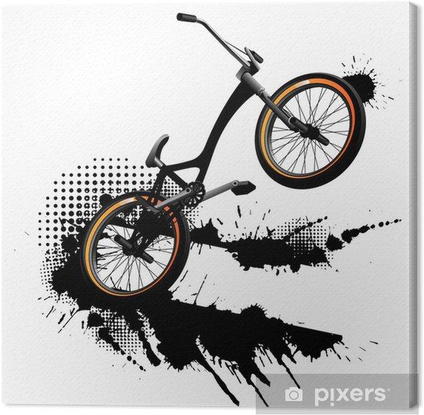 Cuadro en Lienzo Bmx bicicleta de fondo del grunge • Pixers ...