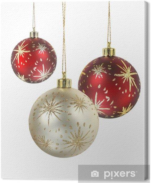 ec9ec4d6a4d Cuadro en Lienzo Bolas de navidad decorado • Pixers® - Vivimos para ...
