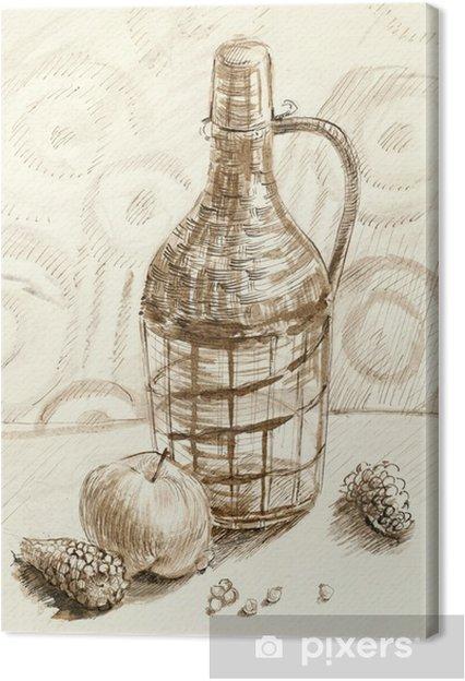 Cuadro en Lienzo Botella, la naturaleza muerta - Artes y creación