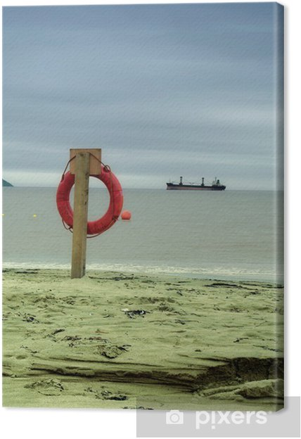 Cuadro en Lienzo Boya de vida - Barcos