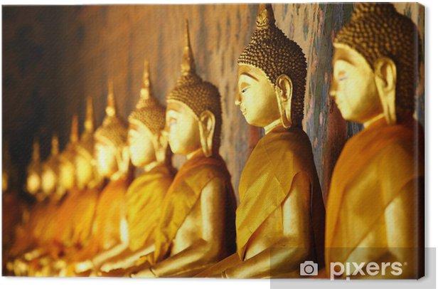 Cuadro en Lienzo Buda de oro en el templo - Temas