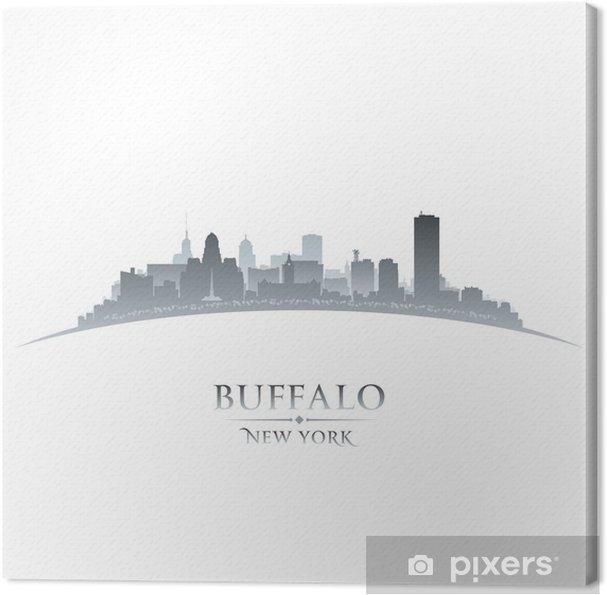 Cuadro en Lienzo Buffalo New York silueta horizonte de la ciudad de ...