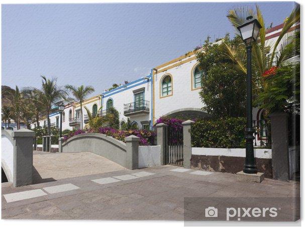 Cuadro en Lienzo Bunte Häuser, Puerto de Mogan, Gran Canaria - Vacaciones