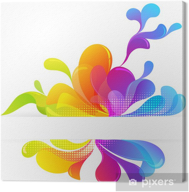 Cuadro en Lienzo Burbujas abstractas multicolores de fondo - Abstractos