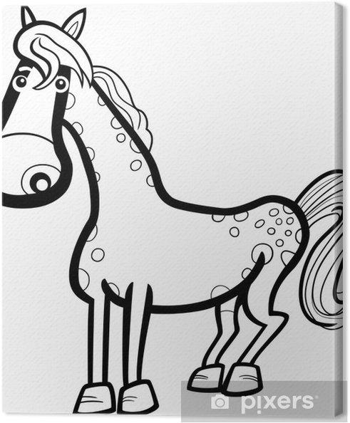 Cuadro en Lienzo Caballo de dibujos animados de animales de granja ...