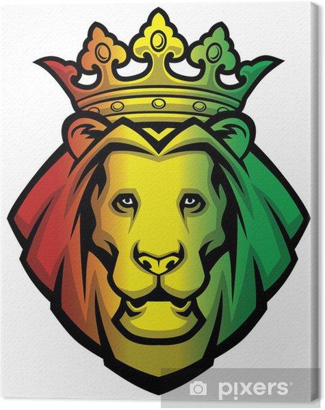 Cuadro en Lienzo Cabeza de león del rasta - Mamíferos