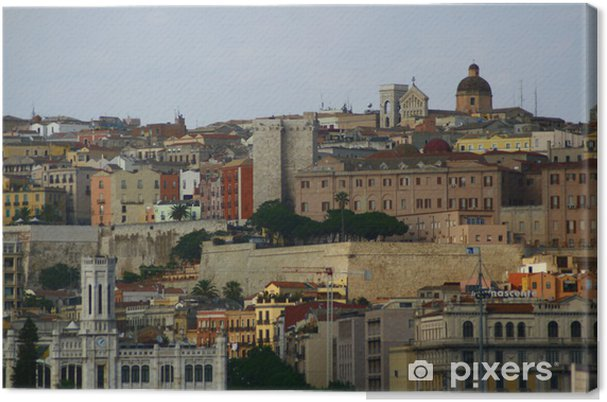 Cuadro en Lienzo Cagliari Skyline - Europa
