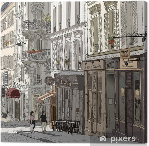 Cuadro en Lienzo Calle en Montmartre - Temas
