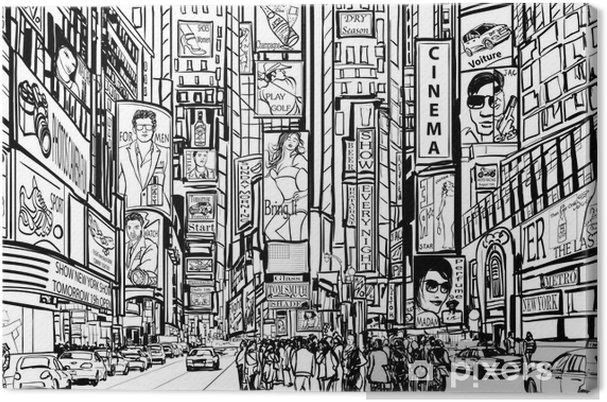 Cuadro en Lienzo Calle en New York City - Temas