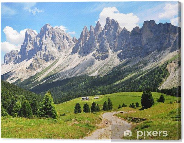 Cuadro en Lienzo Camino del enrollamiento - Montañas