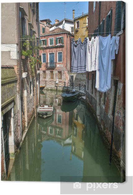 Cuadro en Lienzo Canal, Venecia, Italia - Europa