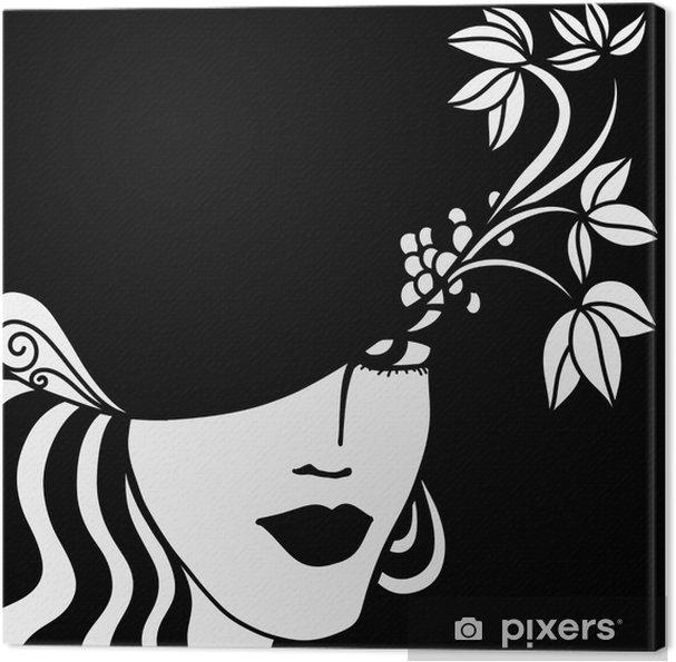 Cuadro en Lienzo Cara de una mujer en blanco y negro • Pixers ... a24d8ad3afd