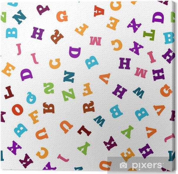 Cuadro en Lienzo Carta colorida de patrones sin fisuras en el fondo blanco - Recursos gráficos
