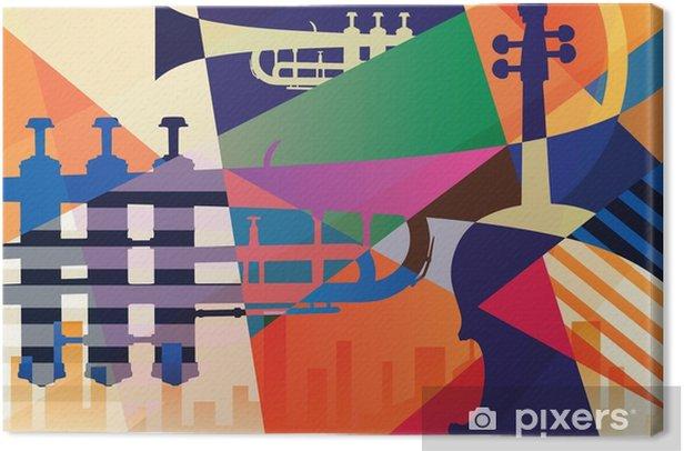 Cuadro en Lienzo Cartel de jazz abstracto, fondo de música - Recursos gráficos