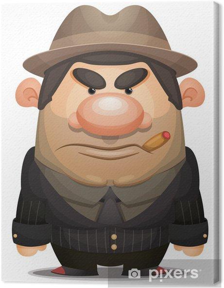Cuadro en Lienzo Cartoon mafioso - Hombres
