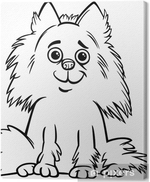 Cuadro en Lienzo Cartoon pomeranian perro de dibujos • Pixers ...