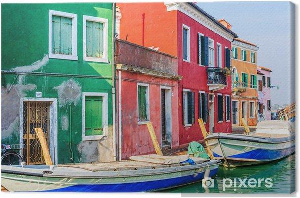 Cuadro en Lienzo Casas coloridas Burano. Italia - Industria pesada